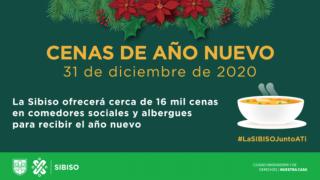Gobierno Capitalino ofrecerá Cenas de Año Nuevo a población vulnerable